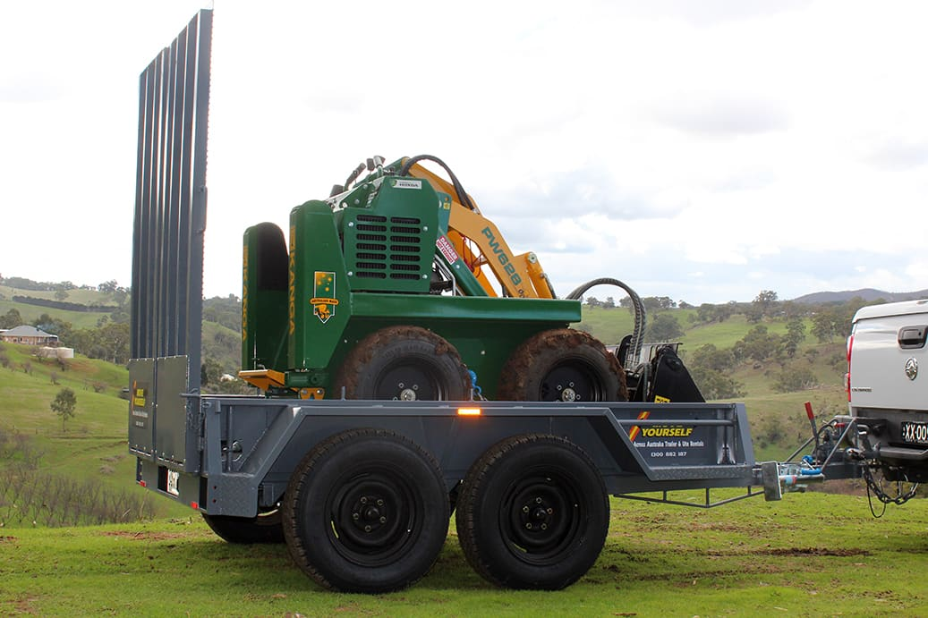 Adelaide Mini Digger Hire Available With Trailer