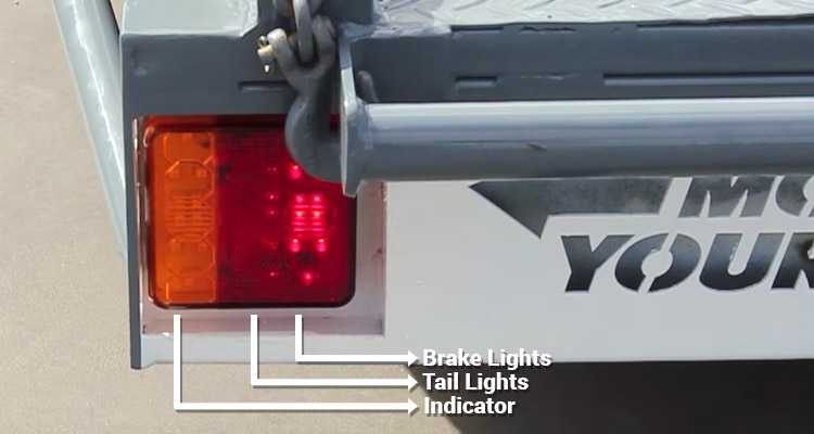 Checking The Tail lights, brake lights and indicator for any faults